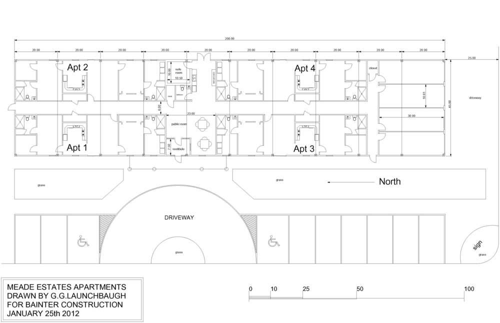 Floorplan of Meade Estates, Meade Kansas