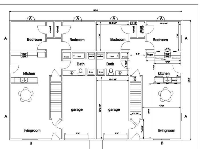 floorplan of each apartment