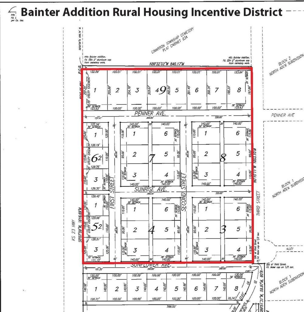 Floorplan of Cimarron Estates, Cimarron Kansas