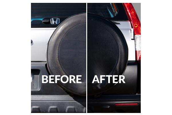 Detailing supplies for Honda CRV bumper; Vinyl Magic lasts longer thanTurtle Wax Trim Restorer, Wipe New, Mothers Back-to-Black, ReNu Finish, Meguiar's Black Plastic Restorer