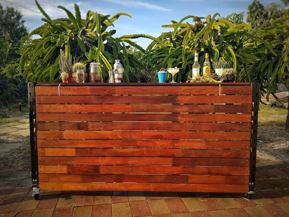 Portable Wooden Bar Units - $150 or $50 with any cocktail package.