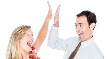 High-five for stock images!!!