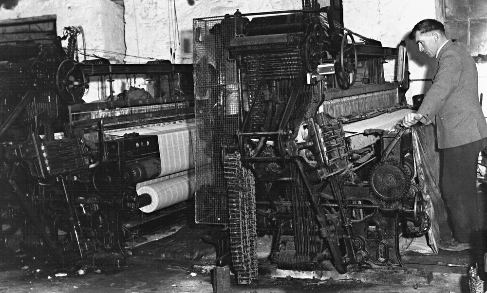 Howard weaving in the mill