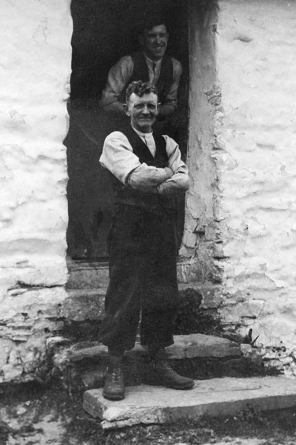 Henry & Howard in mill doorway