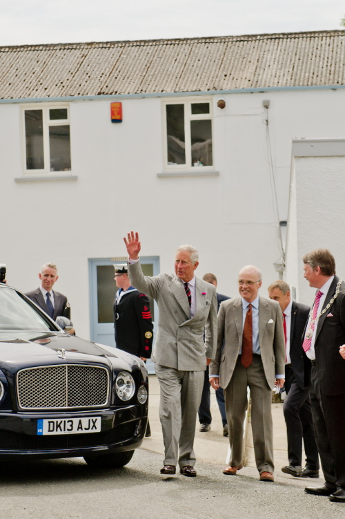 HRH Prince Charles greets crowd