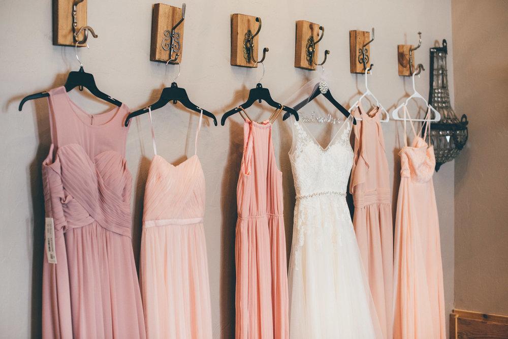Blush Bridesmaid's Dresses
