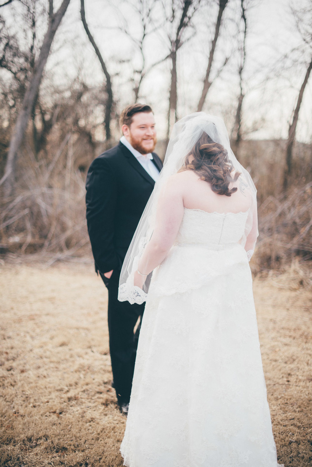 First Look | Winter Wedding Moore Oklahoma