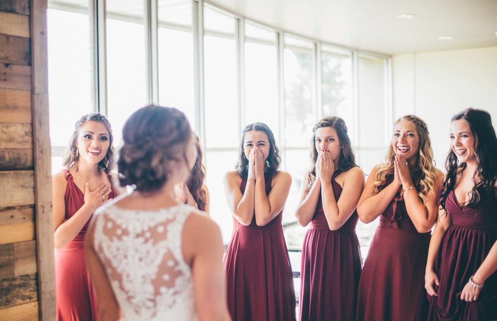 bridesmaids reaction