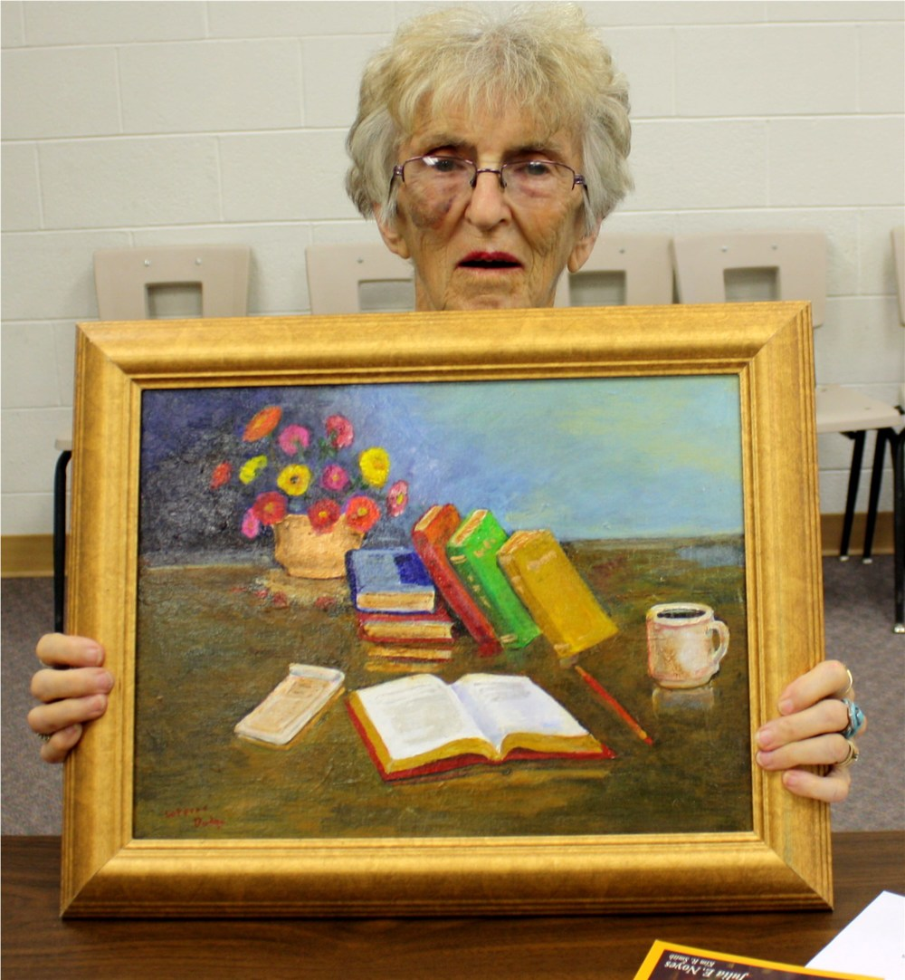 """Books"" by LaVerne Dodge Acrylic   Reserve: $30"