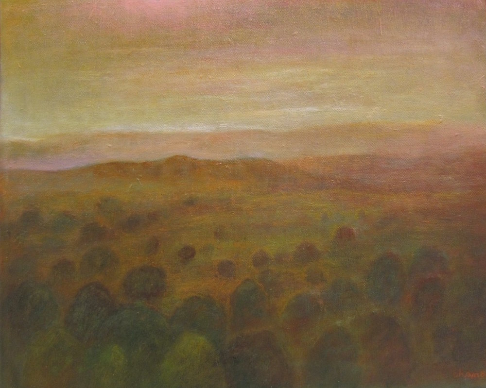 """""""Red Hills 2"""" Oil on Canvas 34""""x48"""""""