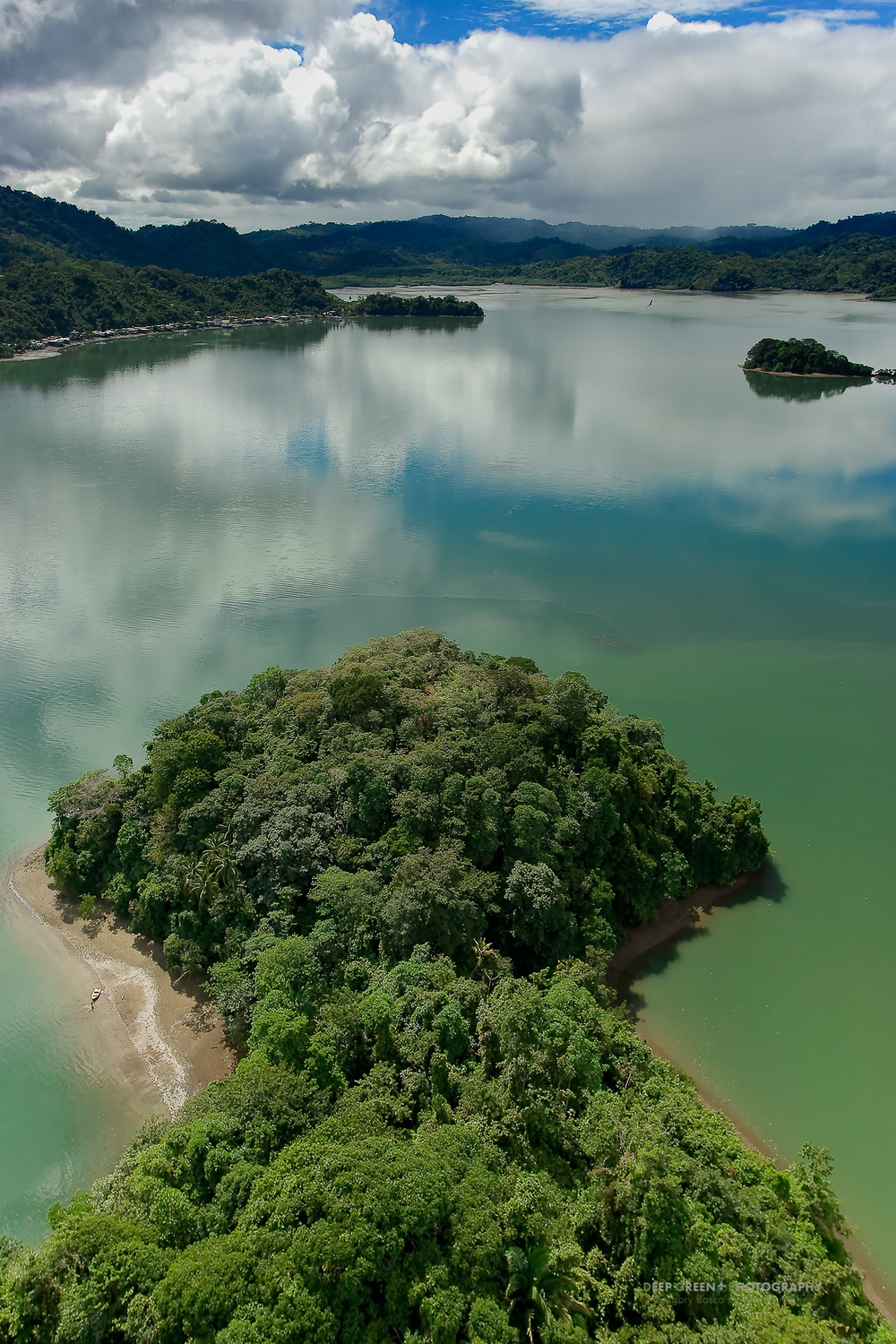Golfo Dulce Rainforest, shot from a helicopter