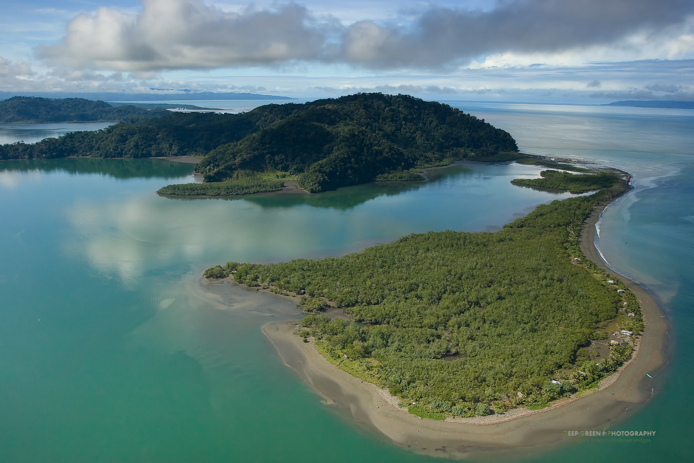 Aerial view of Costa Rica's Golfo Dulce.