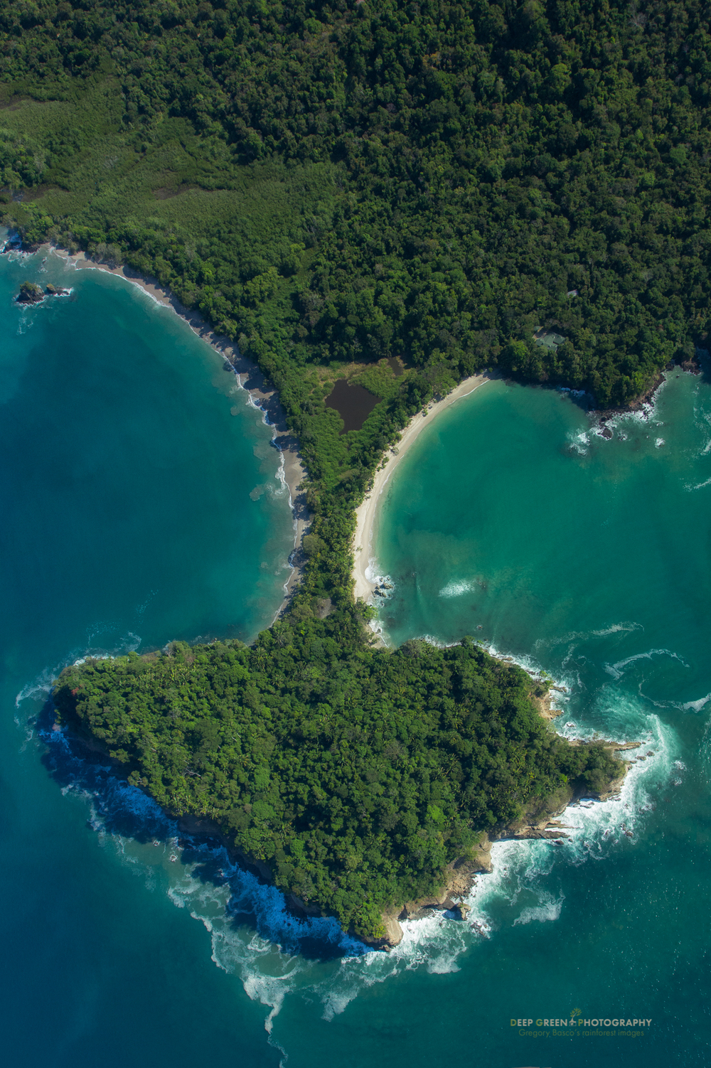Aerial view of Costa Rica's famed Manuel Antonio National Park