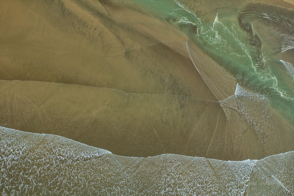Aerial abstract of Costa Rica's Ballena National Marine Park