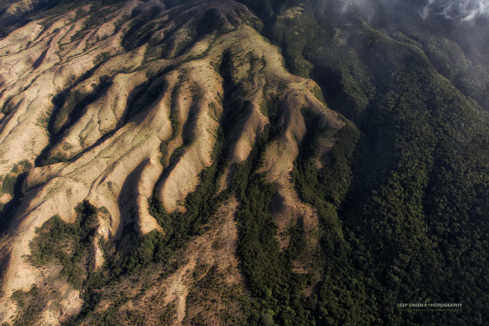 Aerial view of Costa Rica's Rincon de la Vieja National Park