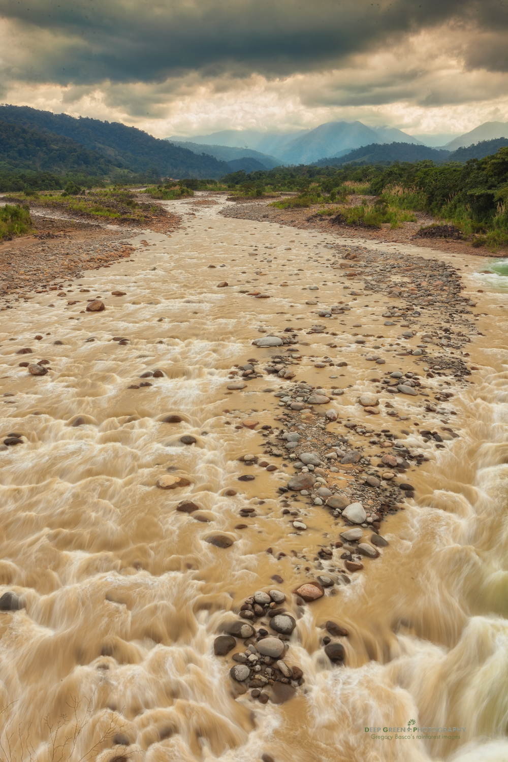 The Toro River descends from the heights of the Braulio Carillo National Park into the lowlands