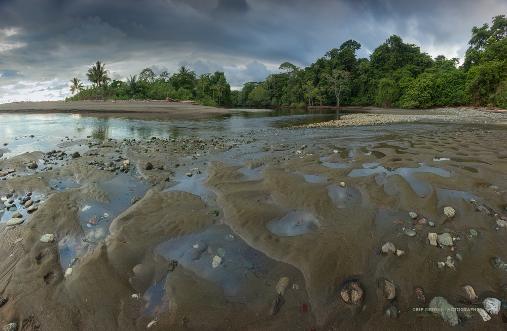 the mouth of the Rio Sirena in Corcovado National Park
