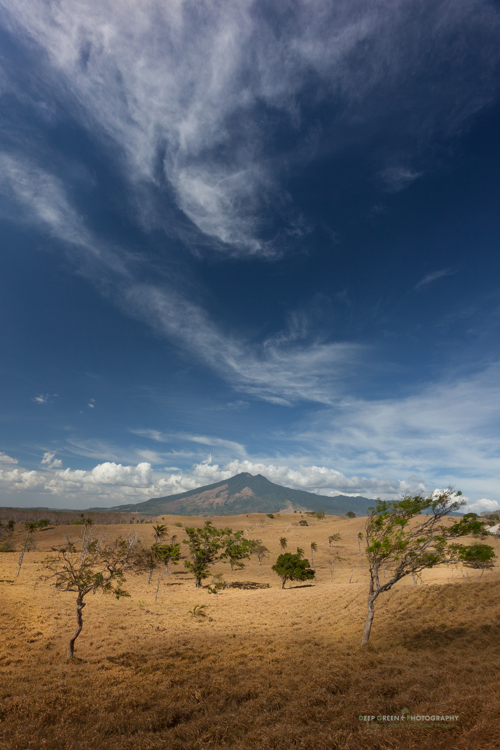 Denuded pastures surround the Tenorio Volcano National Park