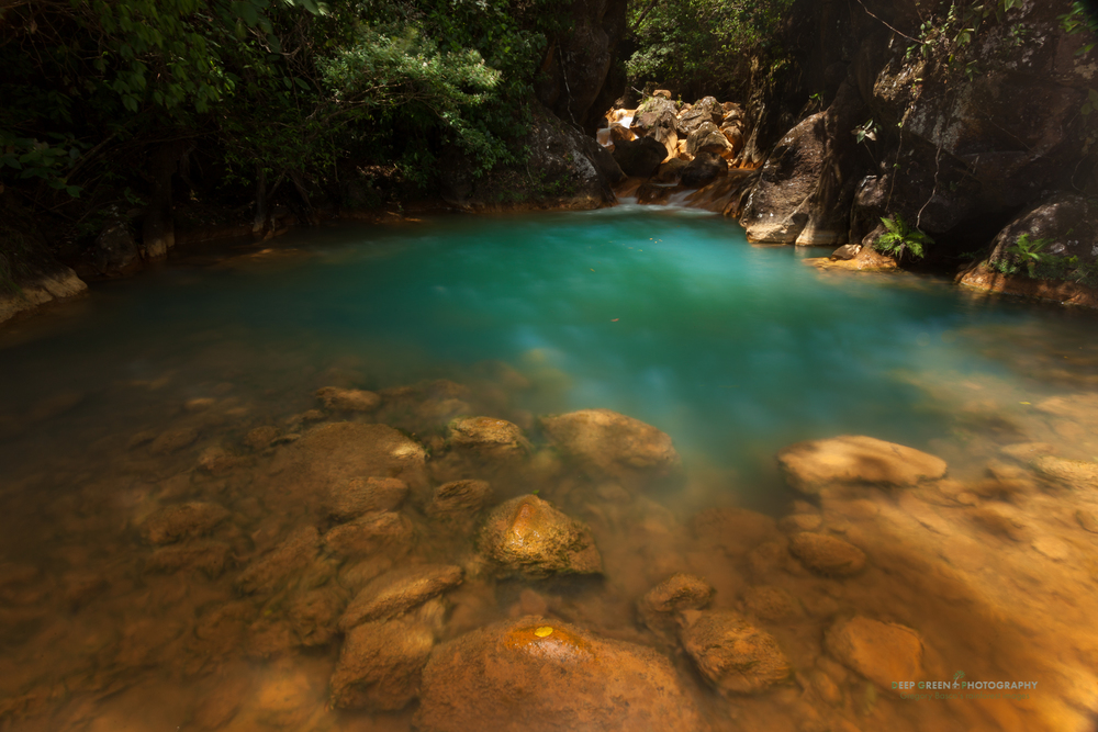 a secluded pool in the Miravalles Protected Zone