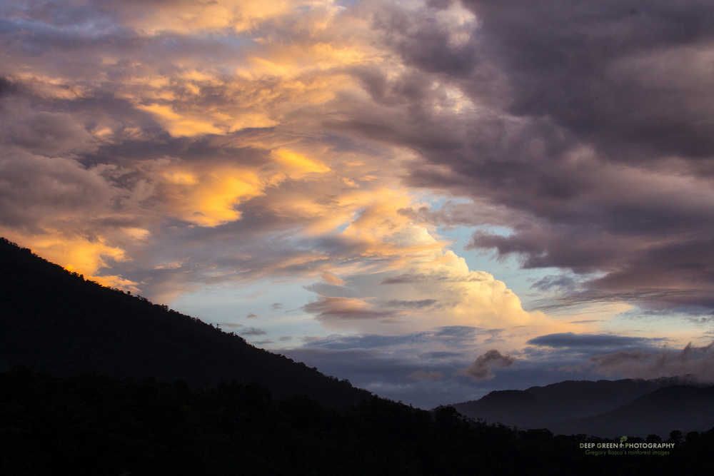 colorful sunset over the high mountains of the Juan Castro Blanco National Park