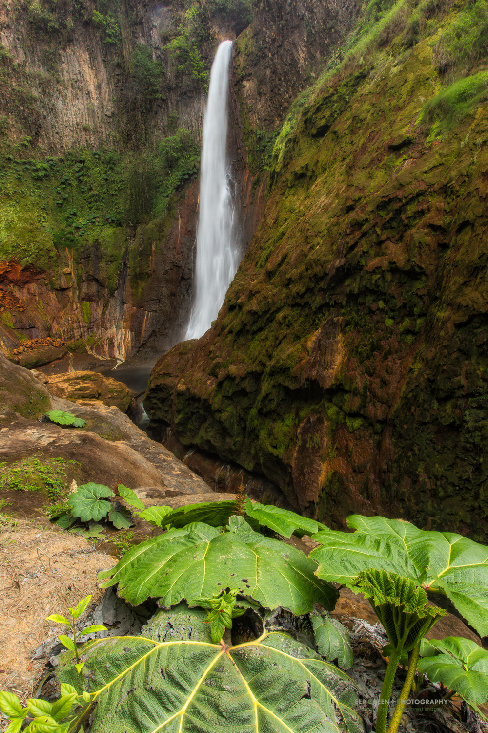 The Toro waterfall is 110 meters high and located in one of the wettest areas of the country and on the planet. The area receives over 6000 mm of rain per year and is home to a number of Costa Rica's hydroelectric power plants.