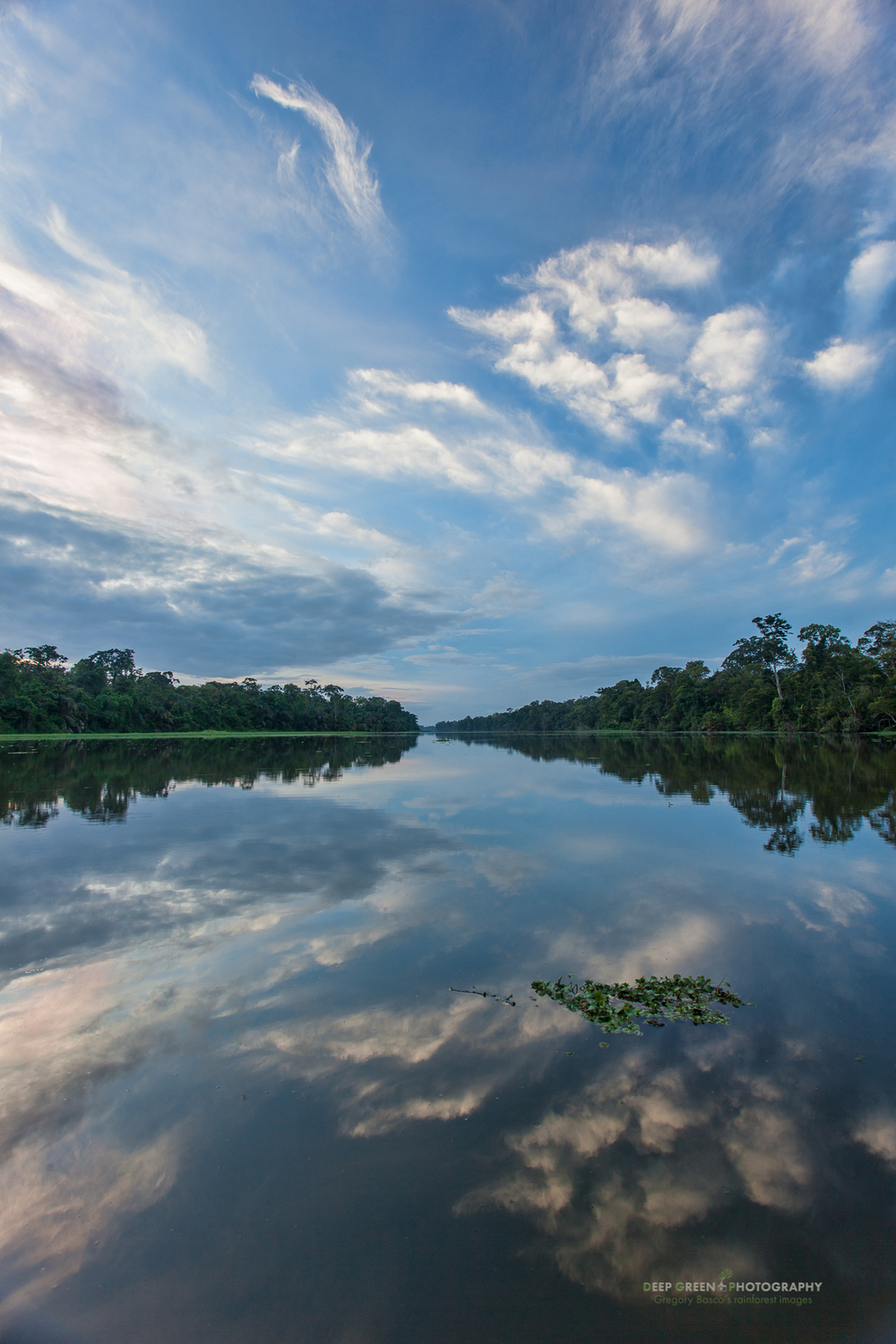 dawn in a lagoon in Tortuguero National Park