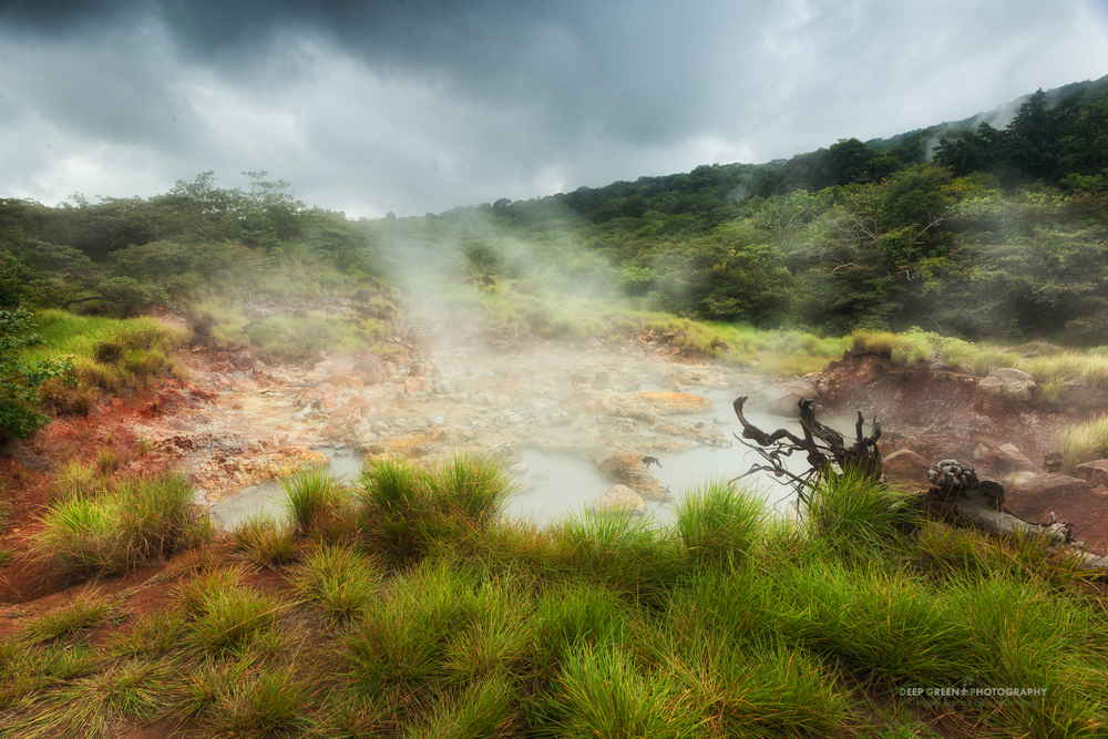 a geothermal steam vent in Rincon de la Vieja National Park