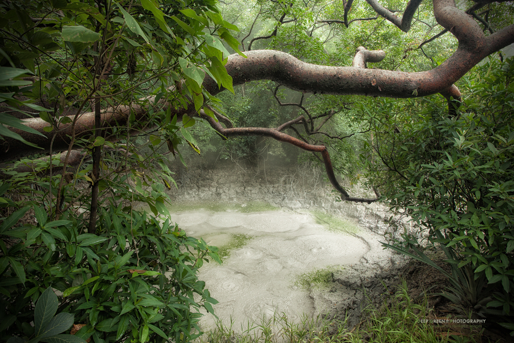 a geothermal bubbling mud pool in Rincon de la Vieja National Park