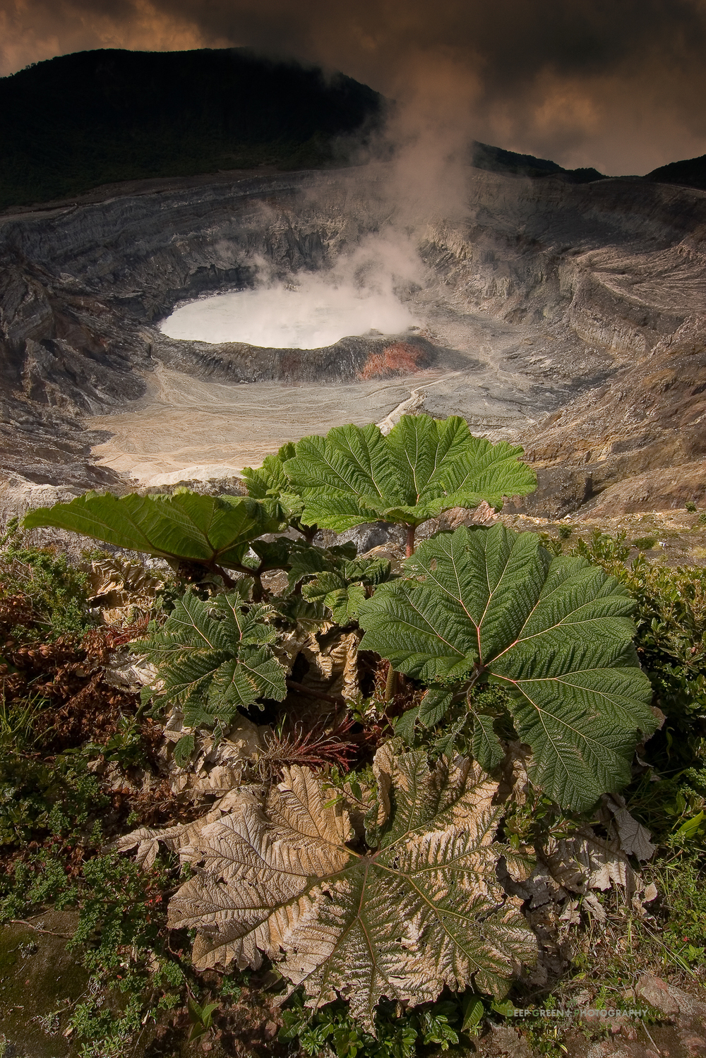 Active crater of Poas Volcano, Costa Rica