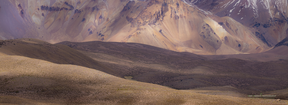 mountains in the Lauca National Park in Chile