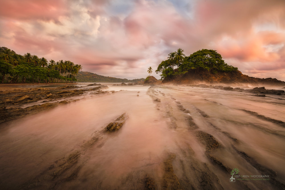 With a Nikon D810 or the new D850, I could have taken this sunset beach shot in Costa Rica without a graduated neutral density filter. I used a filter with my Canon 5DsR, and it turned out fine, but simplifying life in the field allows us to concentrate more on the light and the moment.
