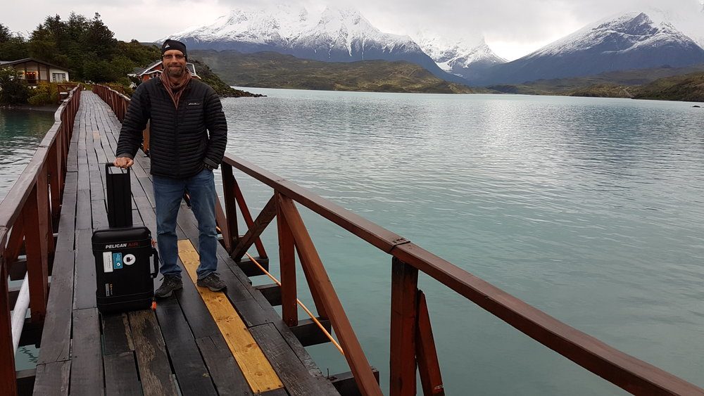 Me and my new best buddy in Patagonia.