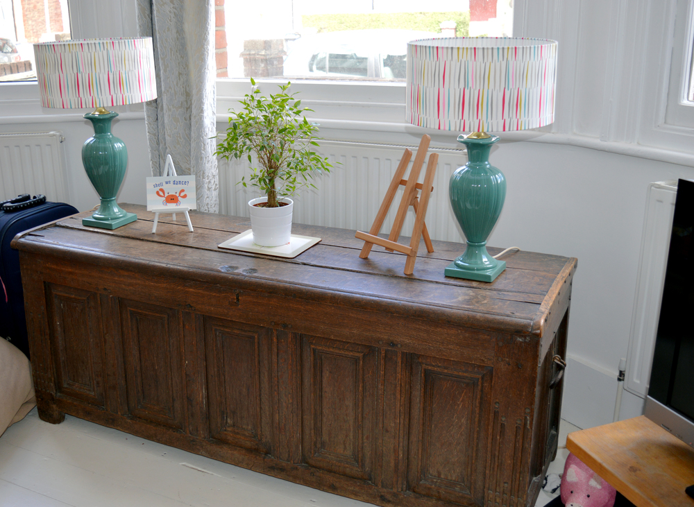 Rosie's 400 year old family chest. I love it!