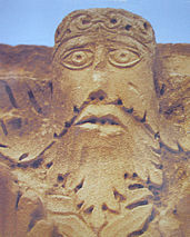 Green Man from Hatra, Iraq (c. 300 BCE)