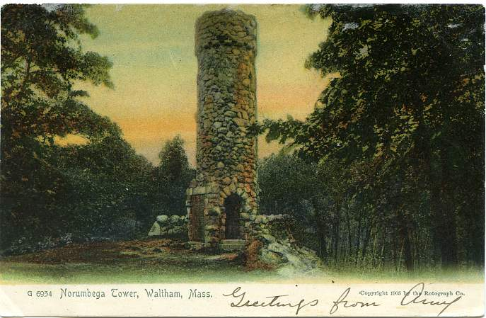 Horsford had this stone tower built on the site as a monument.