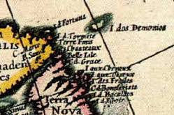 Mythical Isles of Demons on the Blaeu map of 1617