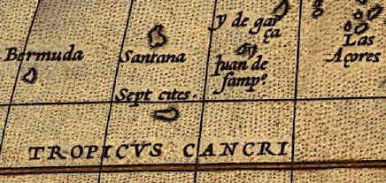 Sept Cities. Ortelius map, 1570