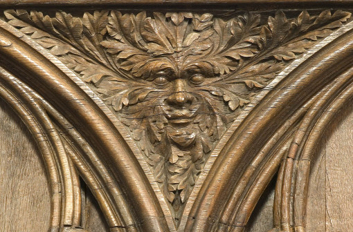 Green Man of Poitiers Cathedral