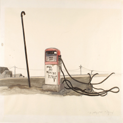 No parking please , drawing for  Slow Agony , 1983