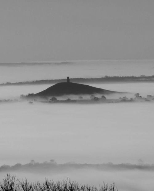 Glastonbury Tor, thought to be the fabled Isle of Avalon.