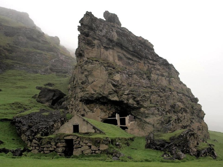 Abandoned Norse cottage in Iceland. It has nothing to do with Vinland. I just think it's cool.
