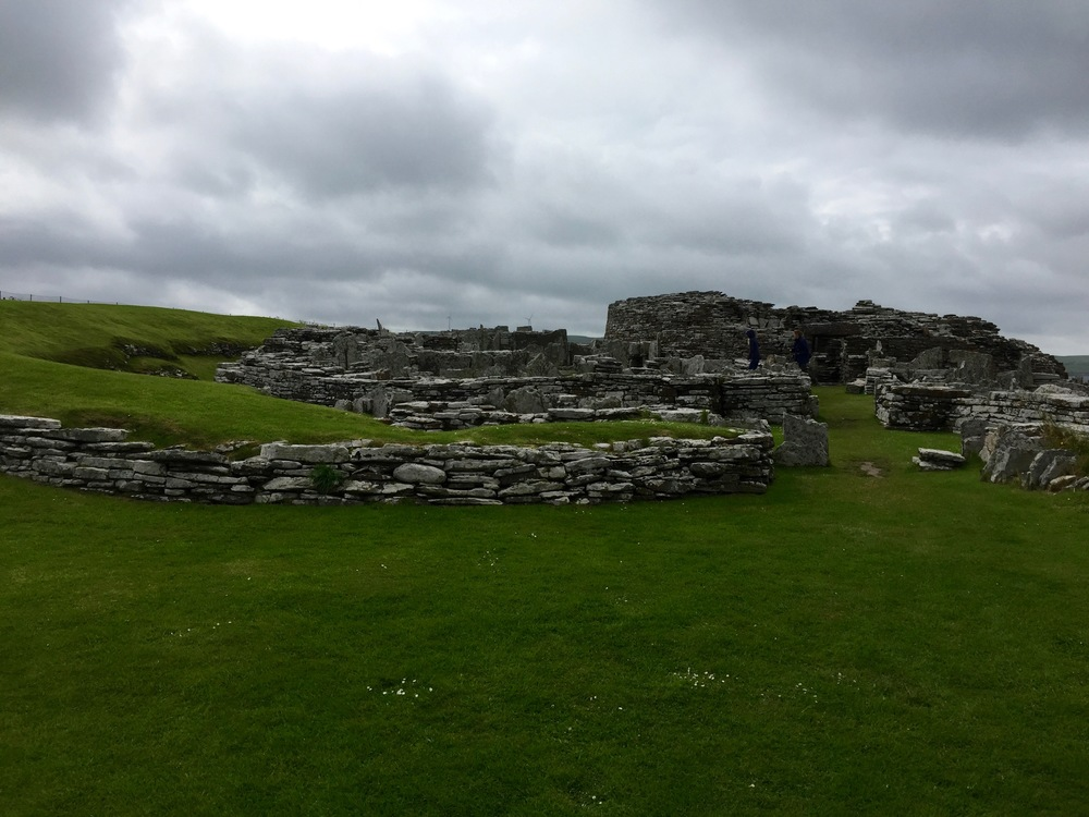 Broch of Gurness. Once this tower was a lot taller, 33 ft probably.