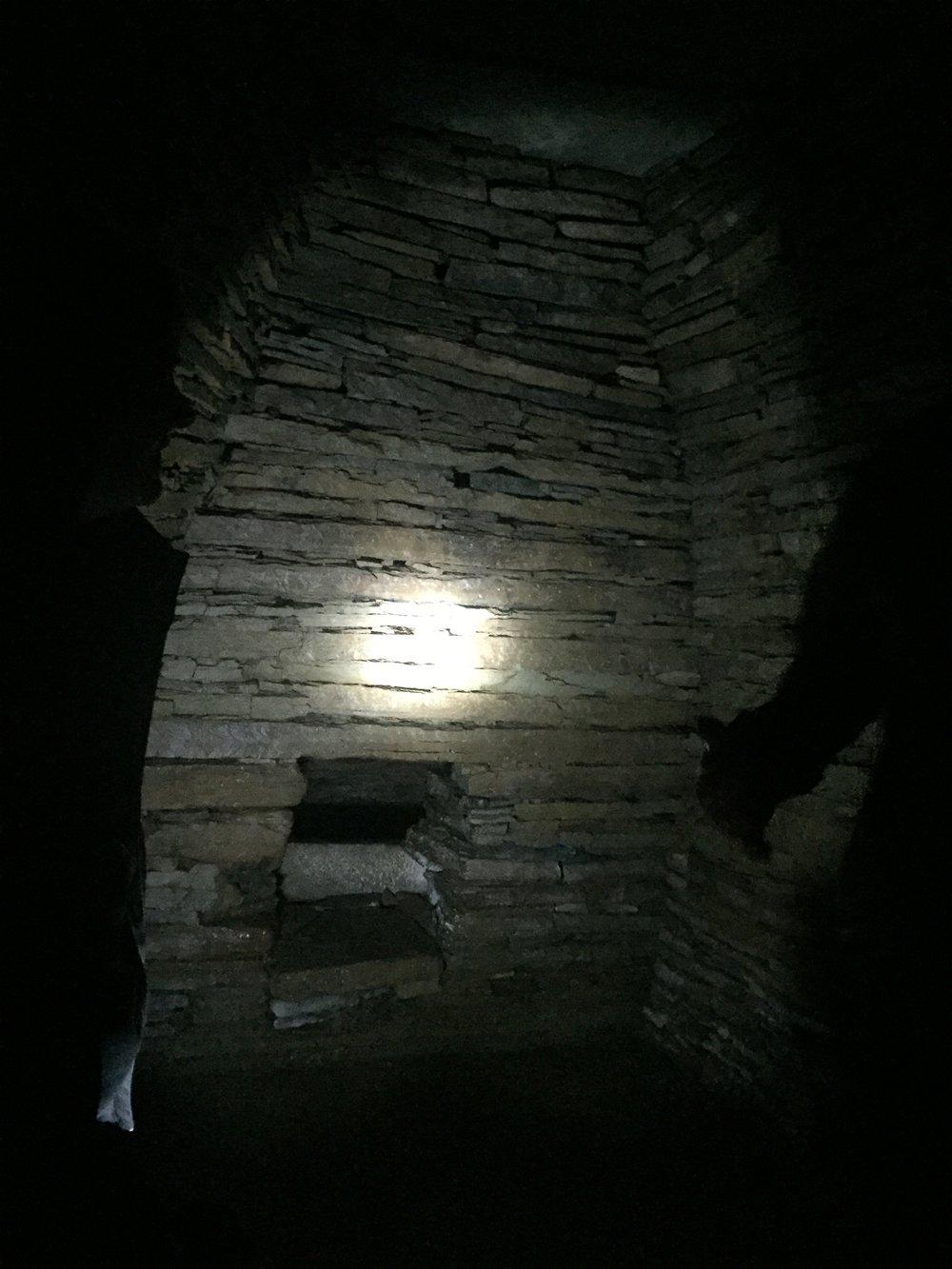 Inside Cuween Cairn