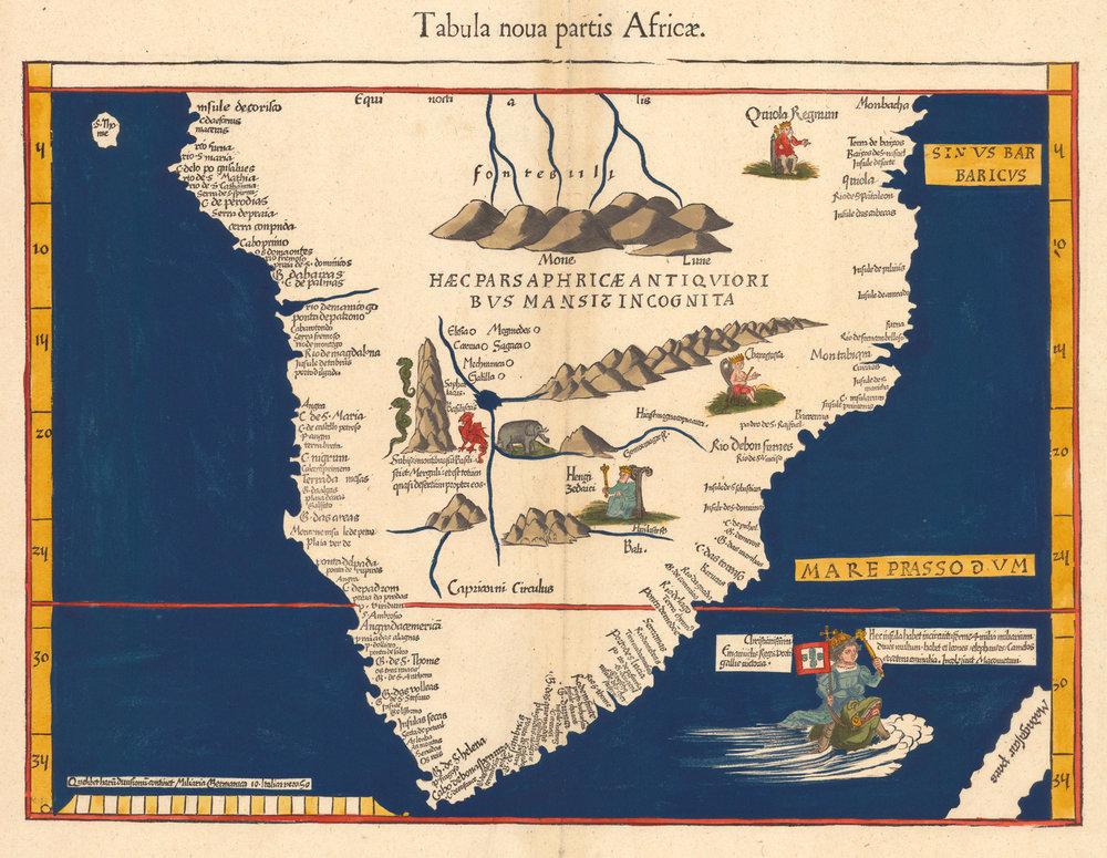Martin Waldseemüller's  Tabula Nova Partis Africae  (1541).