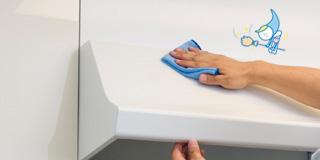 レンタル&クリーニングの換気扇・レンジフードクリーニング後にフッ素コーティングを施すことで、新たな汚れがつきにくく普段のお手入れもらくらく、キレイが長持ちします。