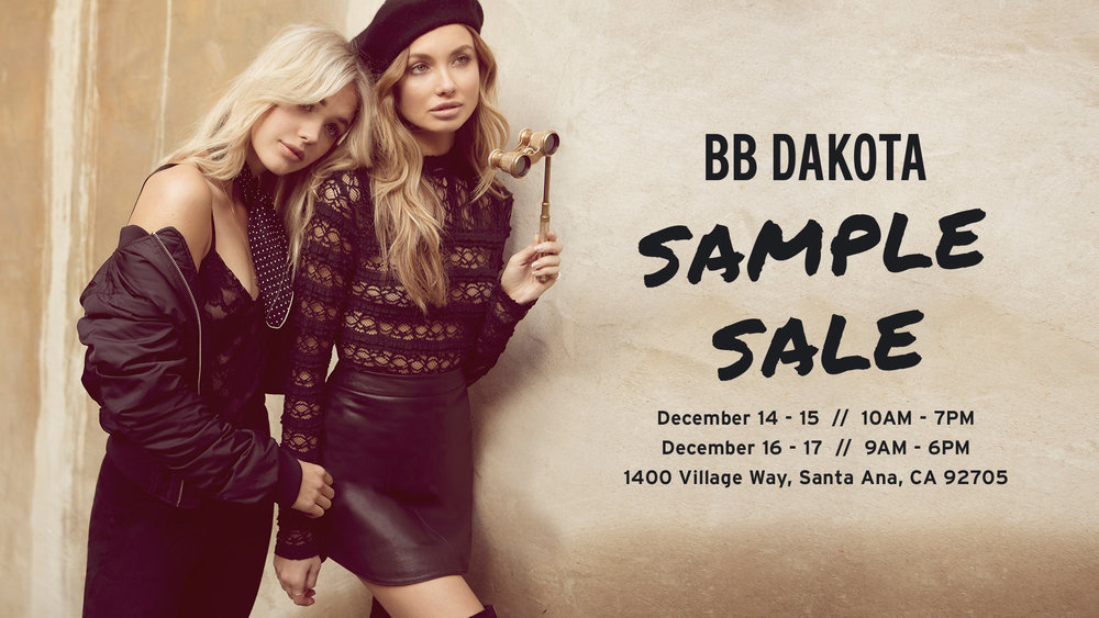 BB Dakota Sample Sale Flyer