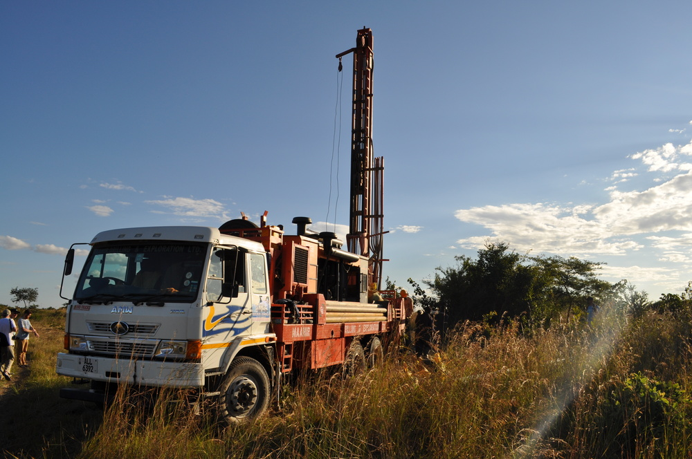 Drilling Borehole well in Muyanga Village, Zambia