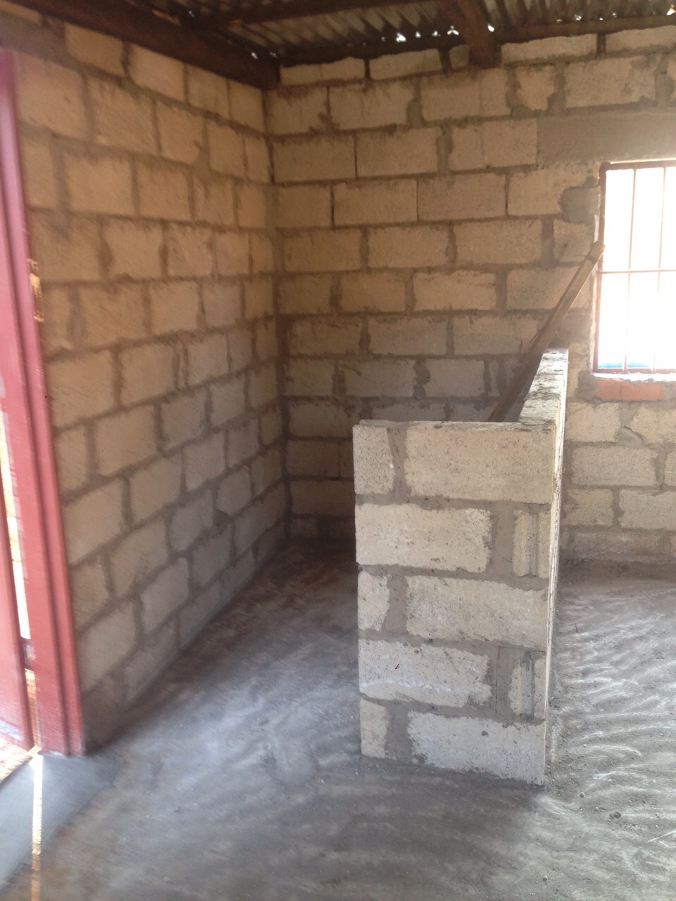 The storage area inside the chicken house
