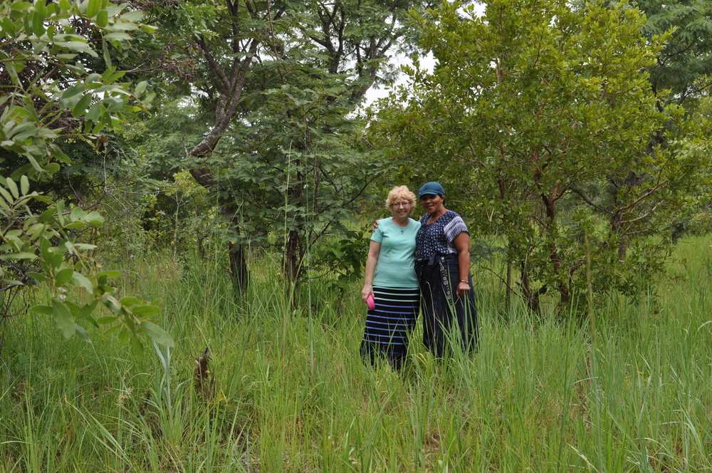 Carol and our friend, Janet, on orphanage land. February 2016