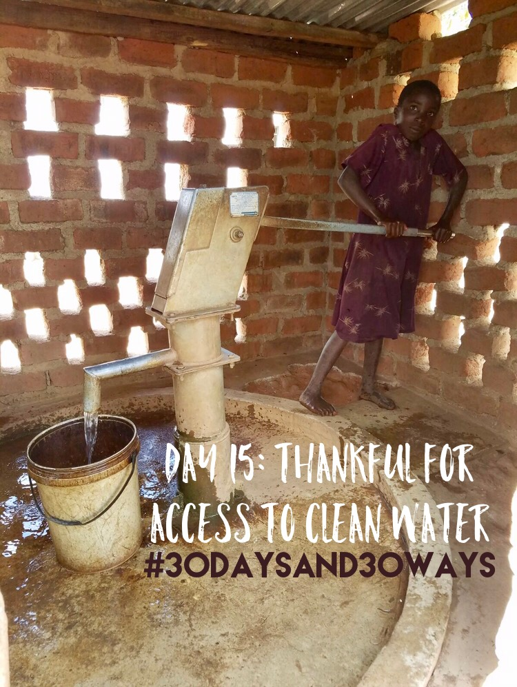 Day 15: we're thankful for access to clean water. Whether we're washing our hands, taking a shower, or getting a glass of water to drink - we have 24/7 access to clean water! This December we're drilling our EIGHTH well in Zambia in a neighboring village to Kunchubwe! In this village, people are walking 5-7km to retrieve water from a local stream - it's contaminated, green, and dries out during half the year. We want to maintain and repair all of our boreholes we drill for years to come. Consider giving an amount of your choosing towards maintaining our clean water projects!